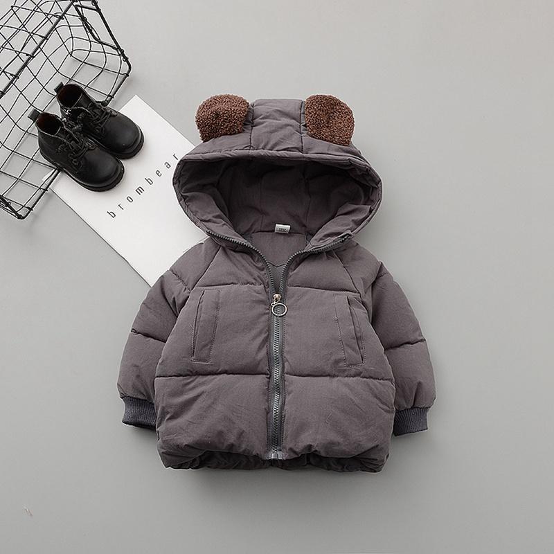 771050f1b Children Warm Winter Baby Boys Girls Kids Thicken Hooded Cotton ...
