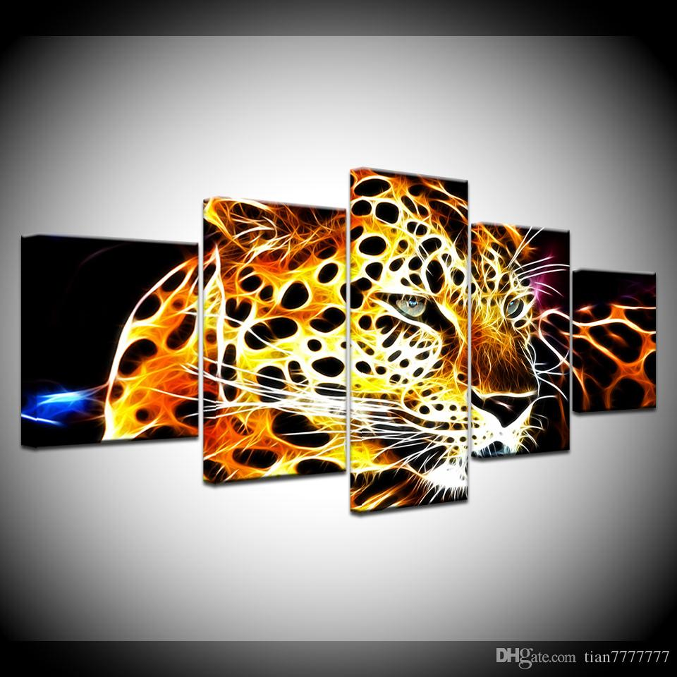 High Quality Canvas Painting Unframed Abstract Leopard Wall Art Picture Home Decor Living Room Poster Painting Popular Gift