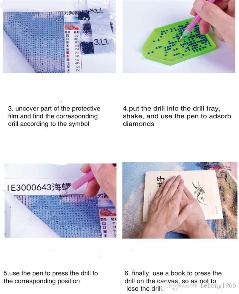 DIY 5d Diamante Pittura Colore Volare Drago Stile Punto Croce Europeo Strass Mosaico Punto Unico Manuale Decor Vendita Calda 16lx Z