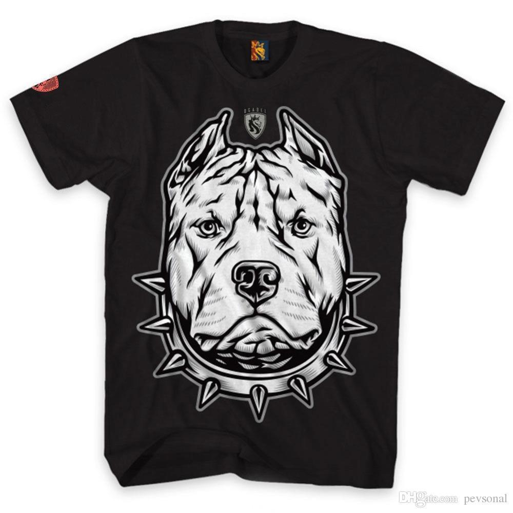 Compre 2018 Verano Hombre Casual Camiseta Hombre Pitbull Camiseta Art  Tattoo Ink Skull Algodón Camiseta Lemas Camisas Personalizadas Para Hombre  A  12.72 ... 455459be642