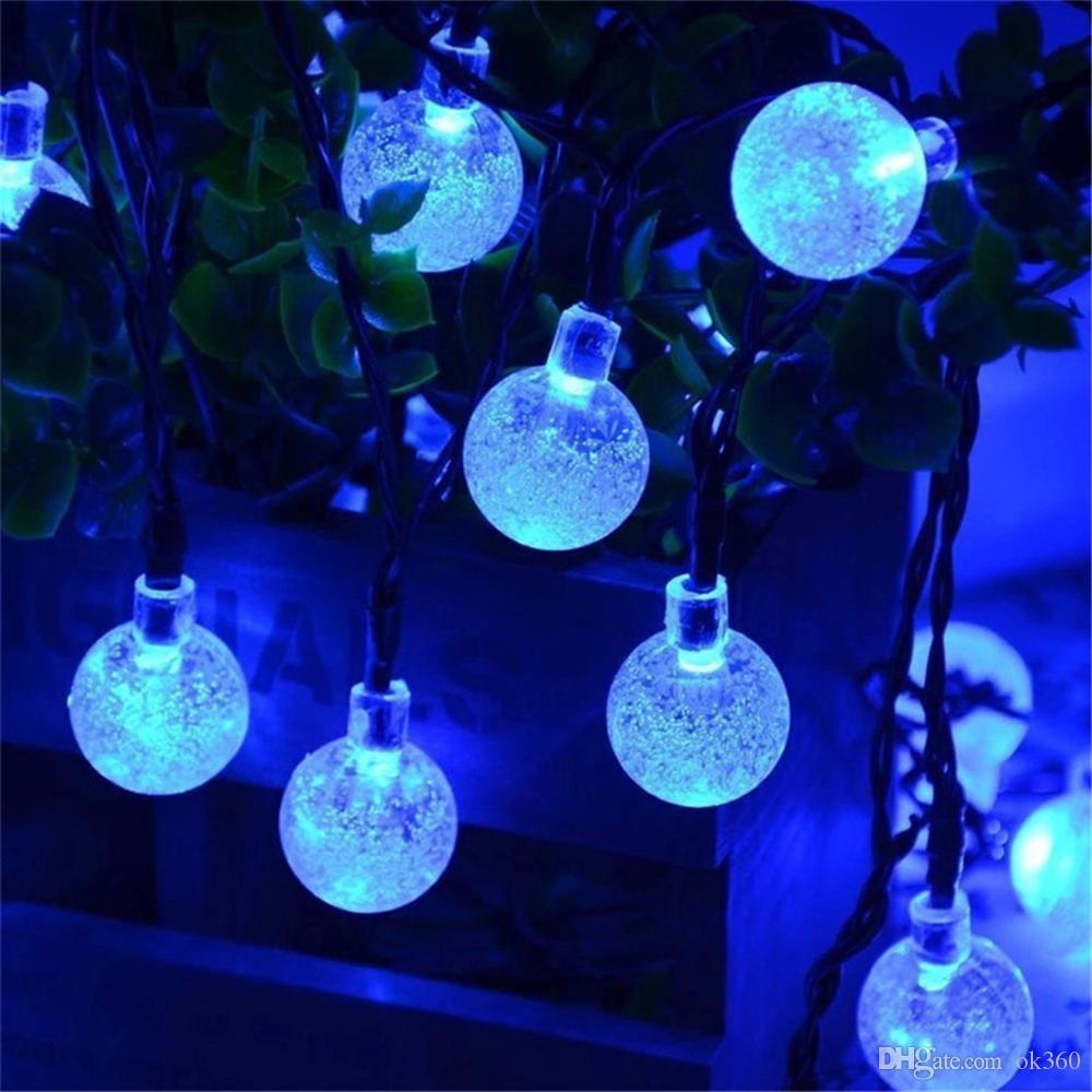 30LED 8 luci della stringa della sfera di cristallo illumina la luce leggiadramente alimentata solare la decorazione dell'interno all'aperto del festival di festa di nozze