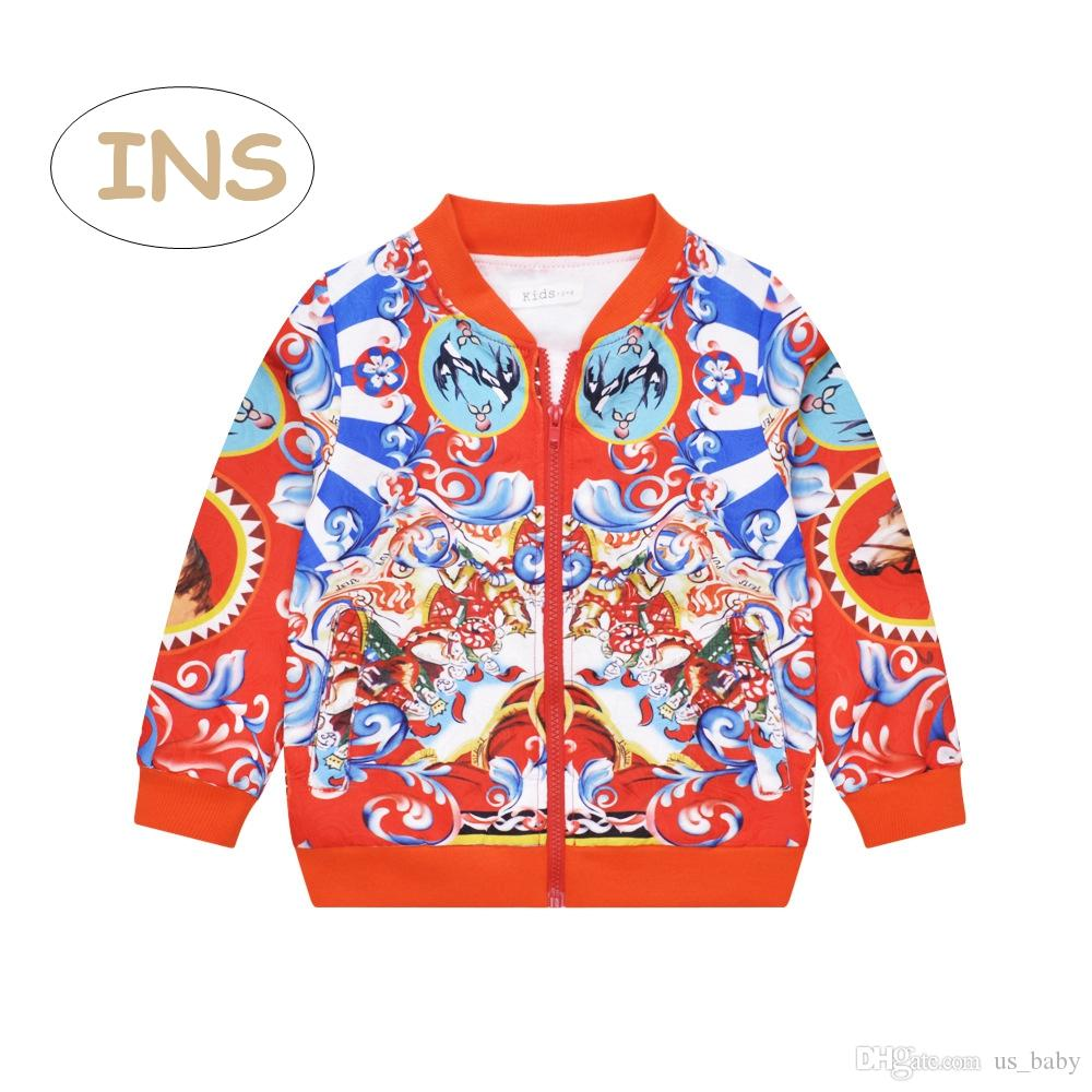 separation shoes 0bd9c 0c50f Cappotto bambina rosso Cappotto bambino stampato manica lunga catholicism  Giacche Kids rosso patchwork EUR stile 3-10T