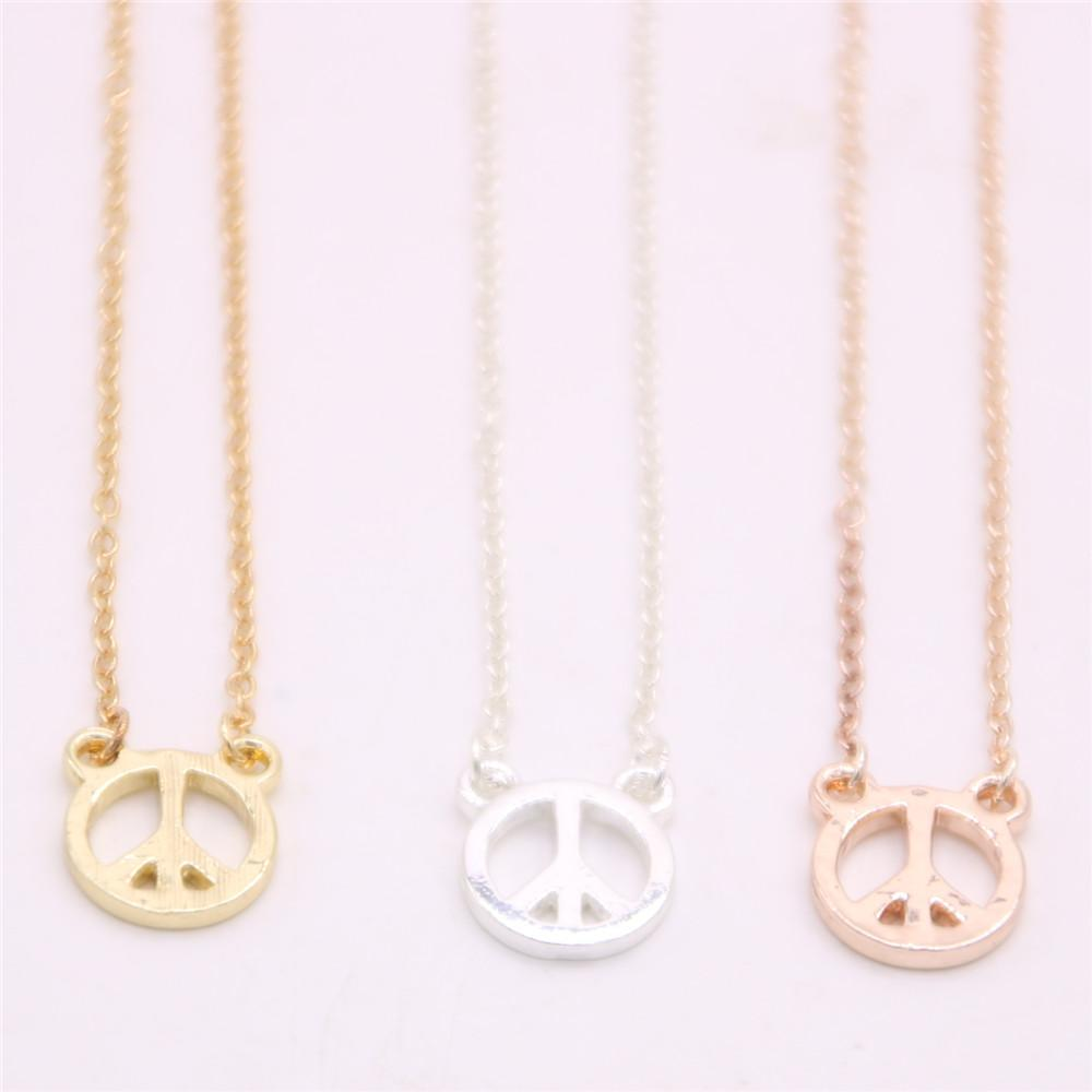 New peace symbol pendant necklace Symbolizes peace pendant necklace  designed for women Retail and wholesale mix