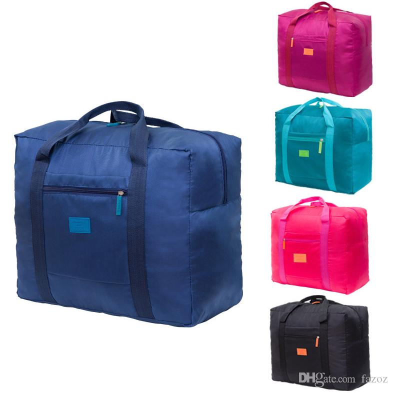 4d34137e5b Collapsible Nylon Travel Luggage Bag Sports Gym Water Resistant Foldable  Lightweight Large Capacity Duffel Luggage Bag Tote Wholesale Mens Shoulder  Bags ...