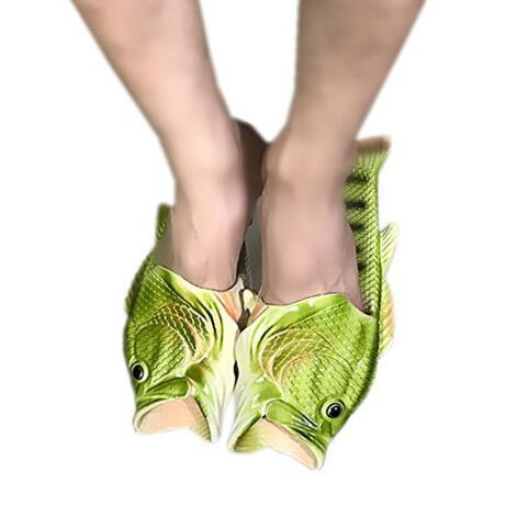 Super Quality Creative Unisex Fish Shower Slippers Funny Beach Shoes