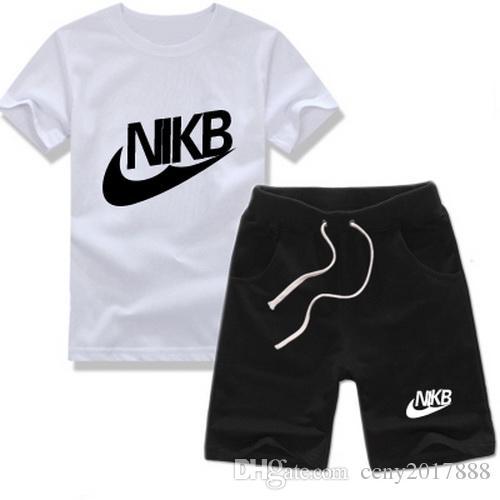 summer Brand kids clothes set boys sport suit children short-sleeve T-shirt+shorts pant girls clothing jogging tracksuit