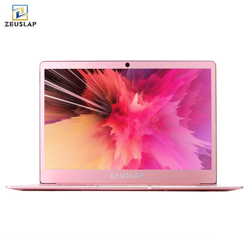 Cheap Zeuslap Lady Rose Pink Ultrathin Metal Laptop 6gb Ram Intel