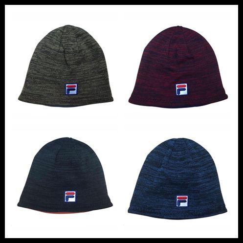 2019 FILA Winter Knitted Hat Beanie Fleece Reversible Skull Caps Men Women  Crochet Hat Hip Hop Knitting Caps Warm Outdoor Double Side Cap From  Good case 905bc0c3a32
