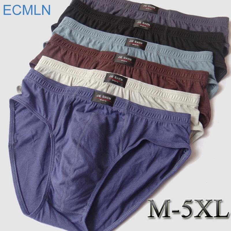 e703c7f402f52 2018 Wholesale Cheapest ! 100% Cotton Mens Briefs Xxxl Plus Size Men  Underwear Panties Xl Xxl Xxxl 4xl 5xl   Men S Breathable Panties 2017 New  From Easme