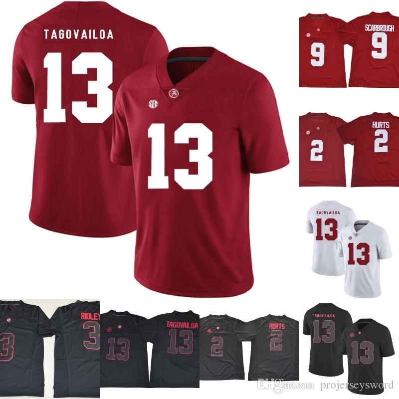 buy online 28d59 0521d Alabama Crimson Tide Jersey 13 Tua Tagovailoa 2 Jalen Hurts 3 Ridley 29  Fitzpatrick 9 Bo Scarbrough Men Lady Youth College Football Jersey