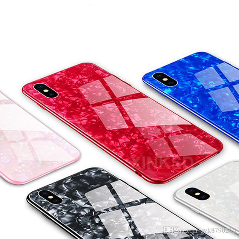 superior quality e43ec 8ac11 Luxury Tempered Glass Case Explosion-proof Marble pattern hard Back Cover  For iPhone 7 8 6S 6 Plus X Case