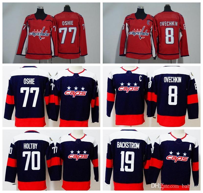 844eb319468 2019 2018 Stadium Series Washington Capitals 8 Alex Ovechkin 77 T.J. Oshie  19 Nicklas Backstrom 70 Braden Holtby Hockey Jerseys Mens From Babutch, ...
