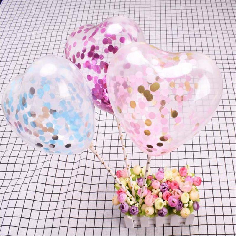 5487541daf Acheter 5 Pouce Gâteau Décoration Coeur Latex Confettis Ballon De Mariage  Décoration Gâteau Topper Ballons Bébé Douche D'anniversaire Party DecorS De  $22.48 ...