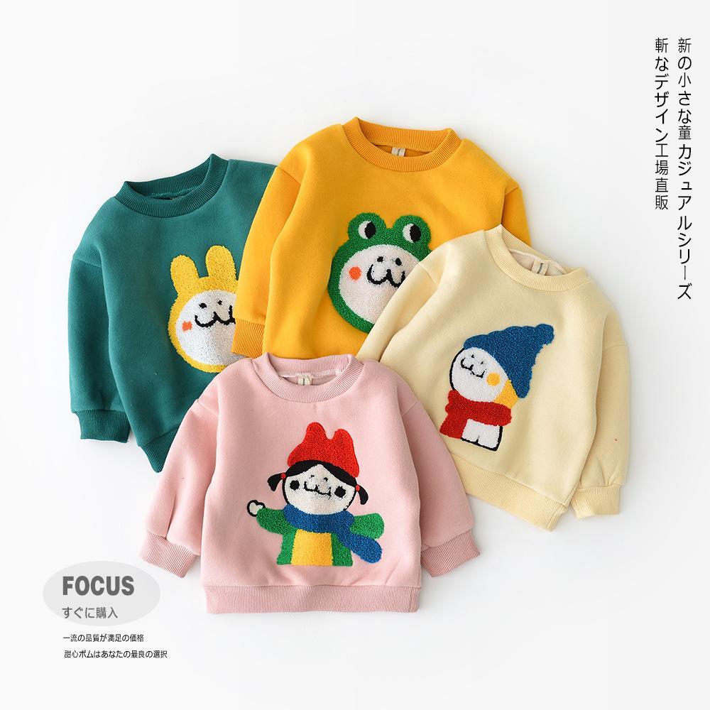 c2e163ad1410 Baby Kids Clothing Hooded Coat Winter Warm Velvet Cartoon Animals ...