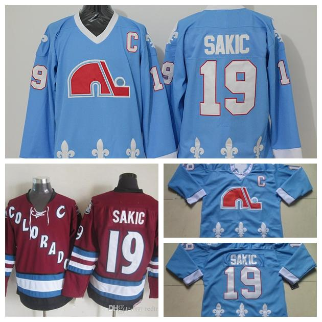 2019 Quebec Nordiques Vintage Baby 19 Joe Sakic Hockey Jerseys Blue Vintage  CCM Colorado Avalanche Joe Sakic Stitched Jersey S 3XL From Babutch ec5837ac8