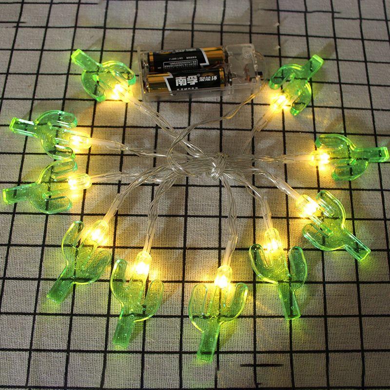 Must Watch 30 Stunning Deck Lighting Ideas: Ins Explosion Solar Light String Cactus Battery Box Light