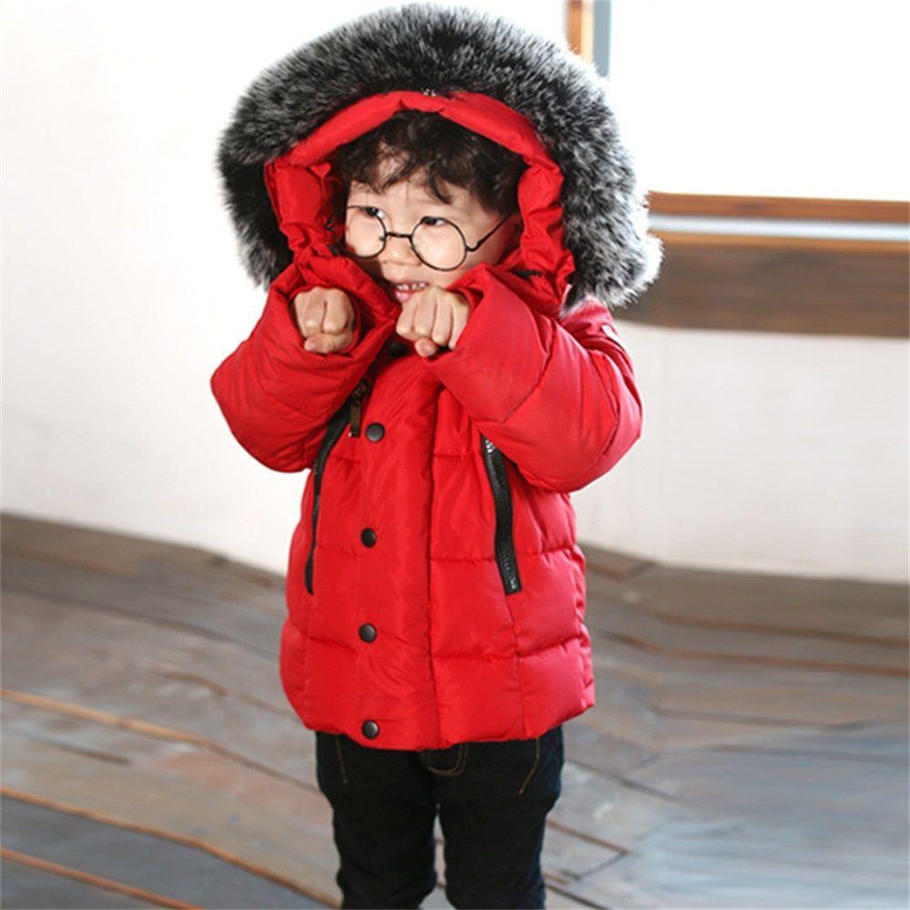 EASY BIG Winter Warm Hooded Children Down Jacket For Girls Unisex Children Parkas Jacket For Boys CC0111