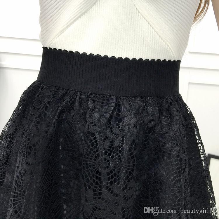 Summer new gauze lace women's wear anti - wear high - waist short skirt a - half skirt