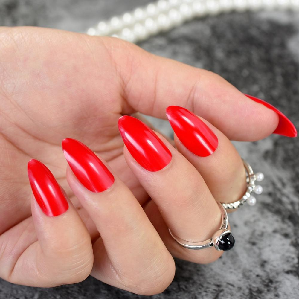 Outstanding Medium Length Stiletto Nails Picture Collection - Nail ...