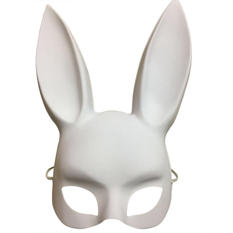 Fiesta Mascarada Máscaras de Conejo Sexy Bunny Long Ears Carnaval Fiesta de Halloween Máscara de Disfraz 2018 Negro Blanco Decoración de Halloween