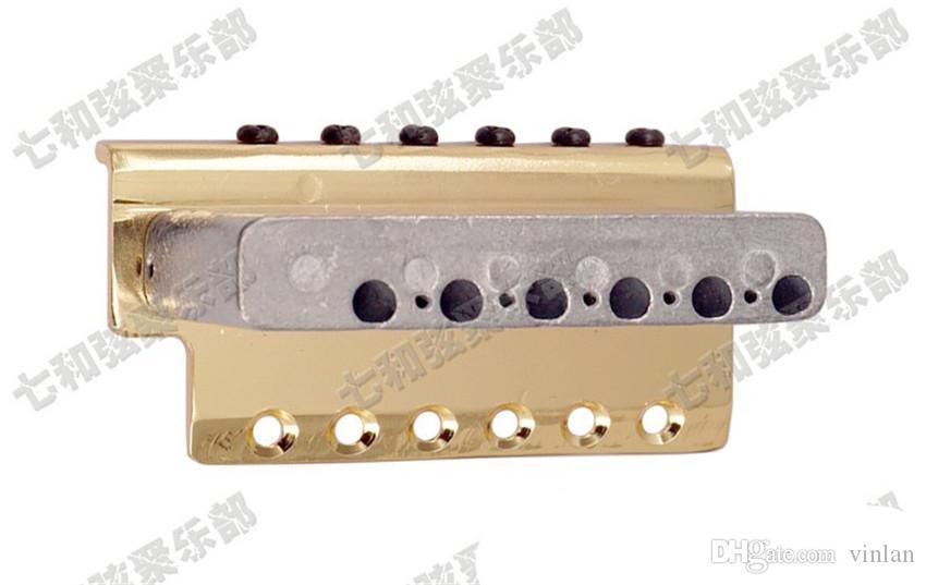 Ponte chitarra d'oro a mano sinistra Parti chitarra 6 corde Ponte chitarra elettrica Accessori strumenti musicali