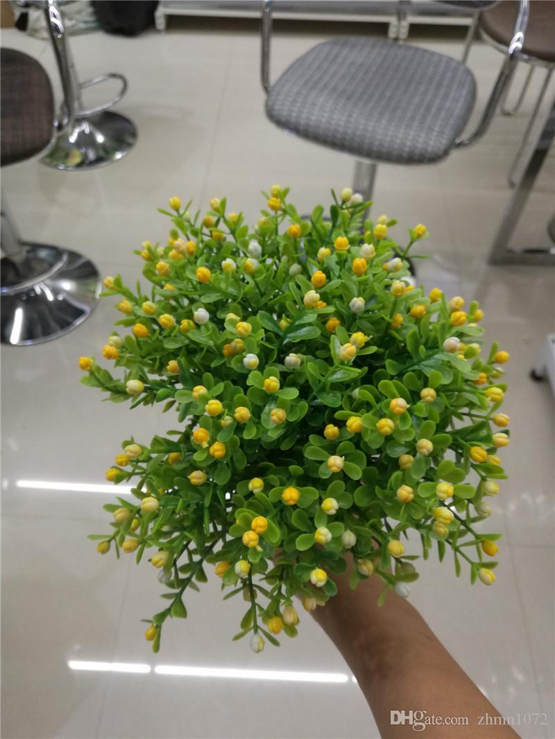 artificial flower Milan grass flower arrangement Green plant pot sitting room decorate Photo props furnish and decorate