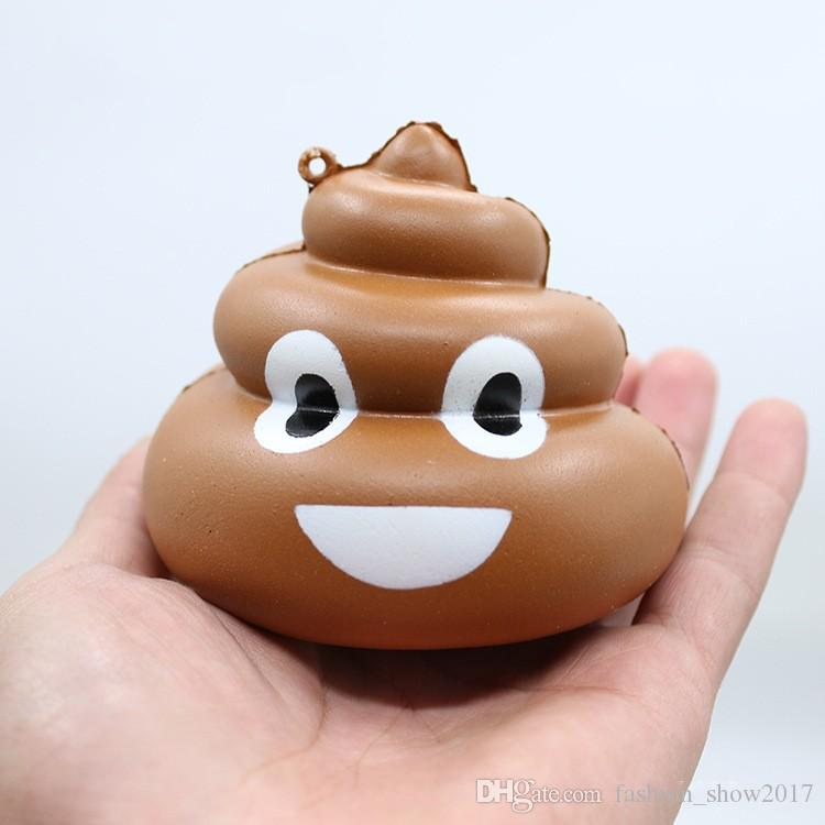 Soft Jumbo Stool Squeeze Poo Squishy Toy Slow Rising Crazy Cell Phone Straps Bread Antistress Scented Key Pendant Charms