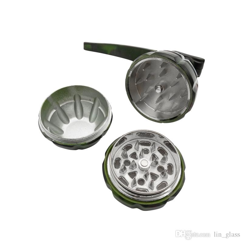 Grinder à main en métal en alliage d'aluminium Grinder Quatre couches 100% broyeur à tabac en métal Broyeur à épices Muller pour fumer accessoire