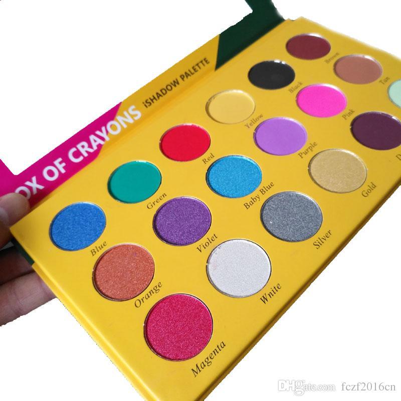 Maquillage Palette Ombre à Paupières Boîte de crayons ishadow palette Cosmétiques 18 Couleurs Shimmer Beauty Mat Fard à Paupières THE CRAYONS CASE
