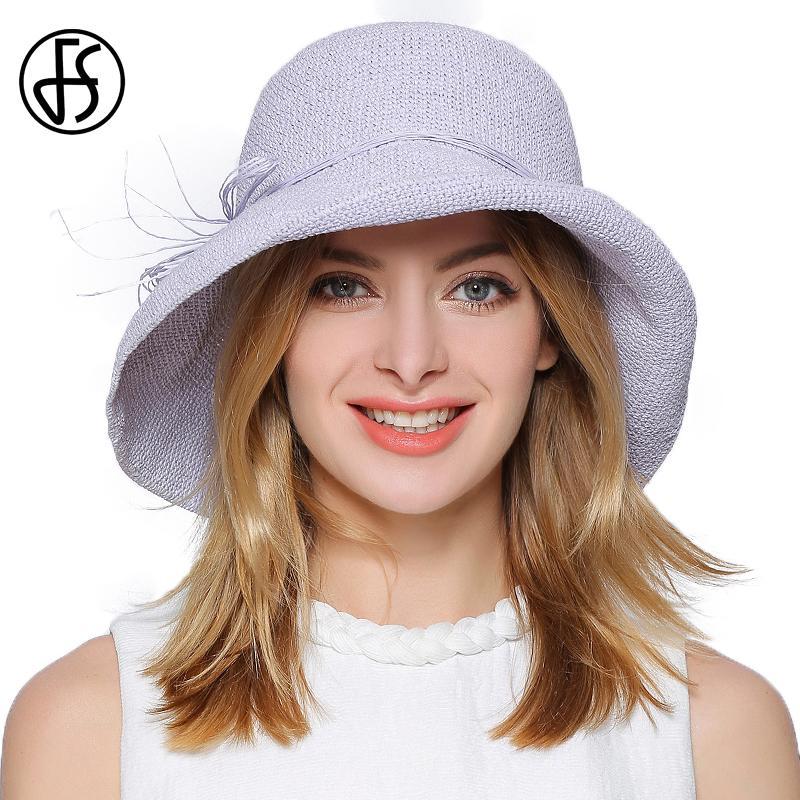 51e9774fc0f FS 2017 Crochet Straw Hat For Women Foldable Floppy Sun Hats Summer Wide  Brim Bow Decoration Female Beach Visor Caps Beige Blue Beanie Hats Winter  Hats From ...