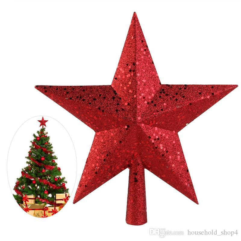 Christmas Tree Topper Star Plastic Christmas Star Tree Topper For Christmas Table Decor Colorful Craft Xmas Diy Accessories