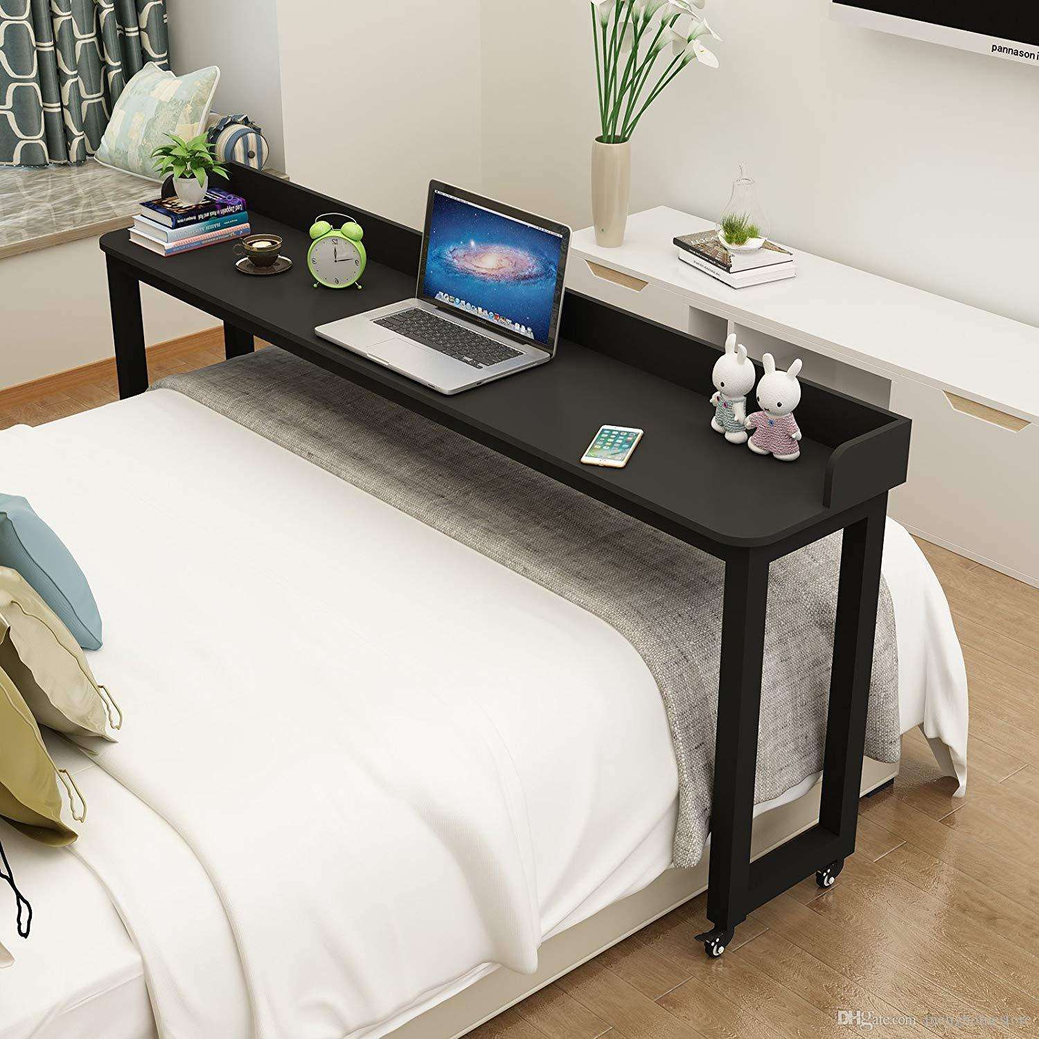 Pleasing Overbed Table On Wheels Rolling Bed Table Over The Bed Table Laptop Cart Laptop Desk Mobile Desk Computer Desk For Bed Download Free Architecture Designs Lukepmadebymaigaardcom