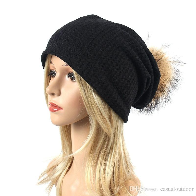 8e3675be46c Wholesale 2018 Autumn New Scorpion Hair Ball Knit Hat Men And Women Outdoor  Leisure Simple Hooded Hat Windproof Cotton Cap Baseball Hat Beach Hats From  ...
