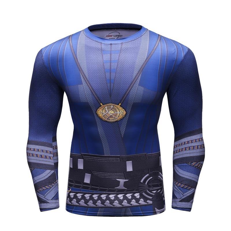 0f984e04813c Men s Compression Shirt Long Sleeve Blue 3D Print T Shirt Man Rashguard  Quick Drying High Quality Sportswear Brand Codylundin White Shirts Funny T  Shirts ...