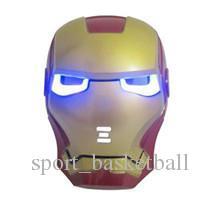 New Hot LED Glowing Light Mask hero SpiderMan Captain America Hulk Iron Man Mask For Kids Adults Party Halloween Birthday JU176