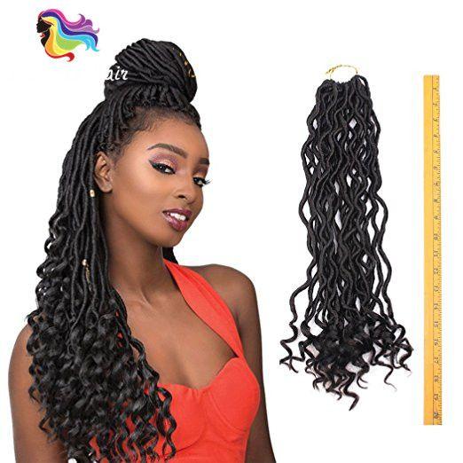 2019 18inch Crochet Goddess Locs Synthetic Fiber Hair Extensions