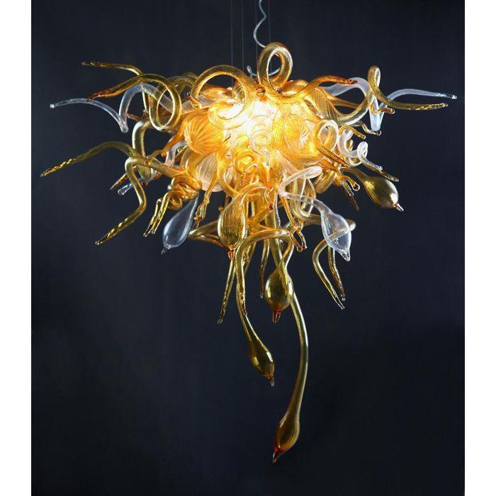 Estilo Chihuly Itália Projetado de Vidro Soprado Lustre de Arte Moderna de Vidro Sala de estar Decoração Moderna Lustre LED com Certificado UL CE