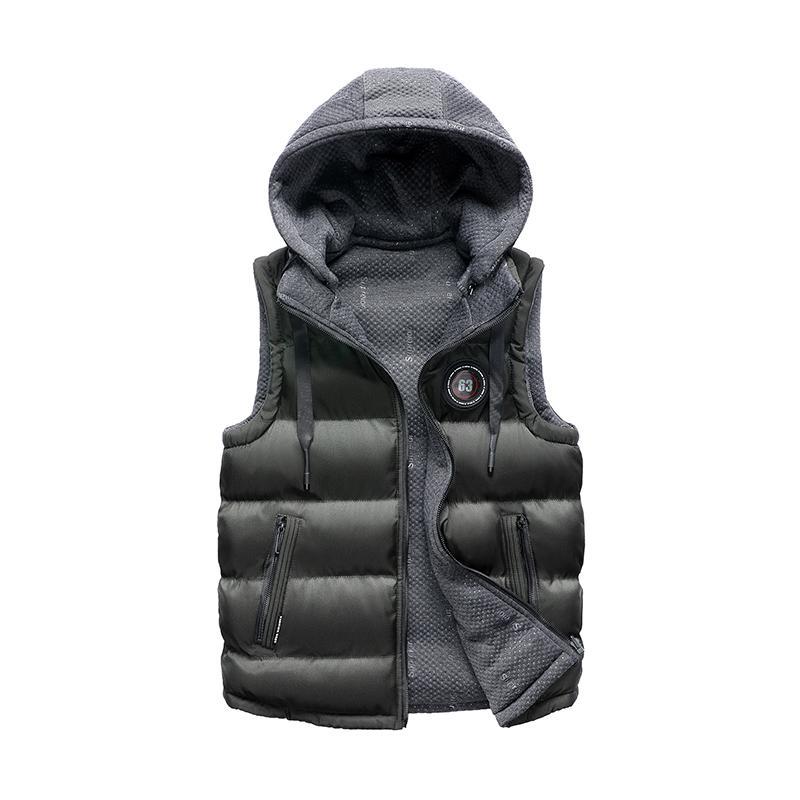 249feddd77889 Autumn Mens Jacket Winter Sleeveless Double Sided Jacket Vest Casual Men  Coats Male Cotton Padded Men S Vest Thicken Waistcoat Ladies Leather Bomber  Jacket ...
