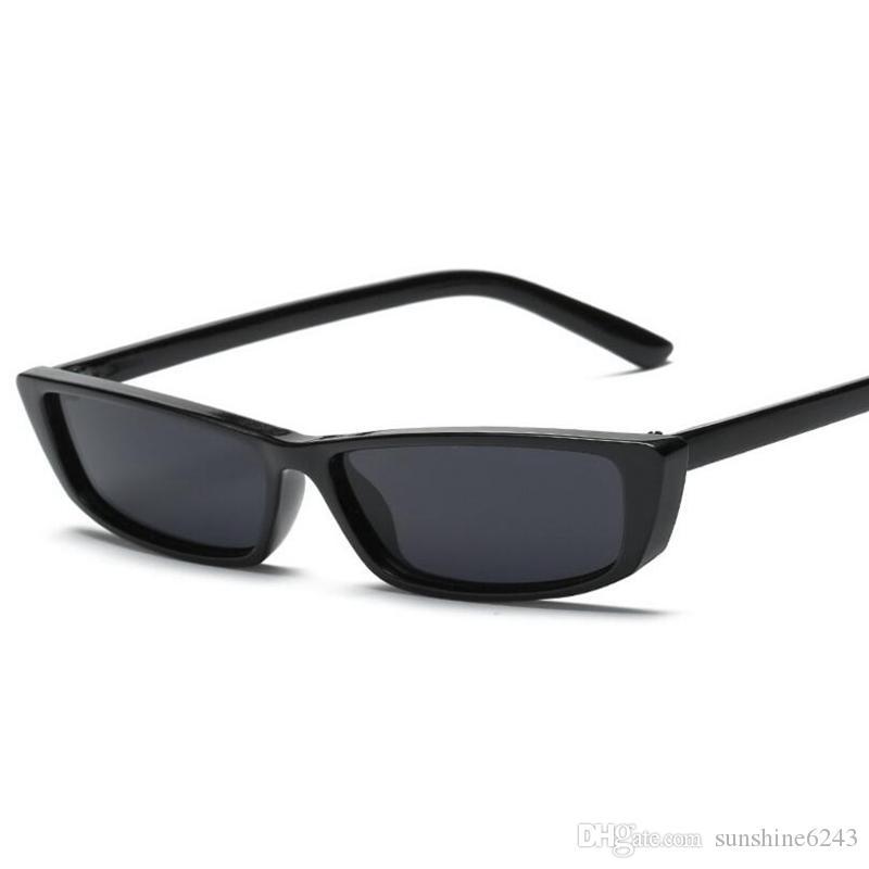 Großhandel Neue Weinlese Rechteck Sonnenbrille Frauen Markendesigner ...