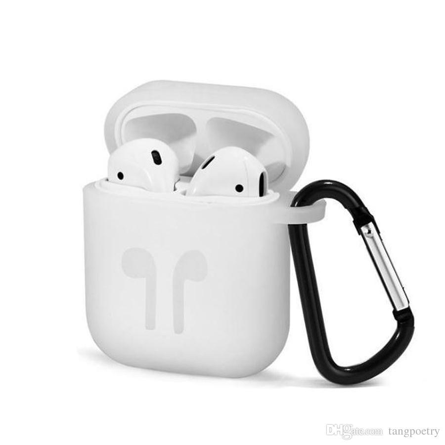 Hot Airpod Protective Airpods Câble de liaison de couverture Étui en silicone pour écouteurs sans fil Bluetooth Étanche Sangle antidébaissement Accessoires mélanger les couleurs