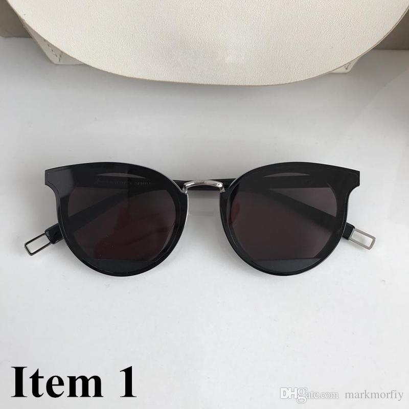 5783367990952 Compre Coreano Gentil Mulheres Homens Unisex Marca De Luxo Designer De Olho  De Gato Óculos De Sol Lente Polarizada UV400 Espelho Refletido Lente De  Proteção ...