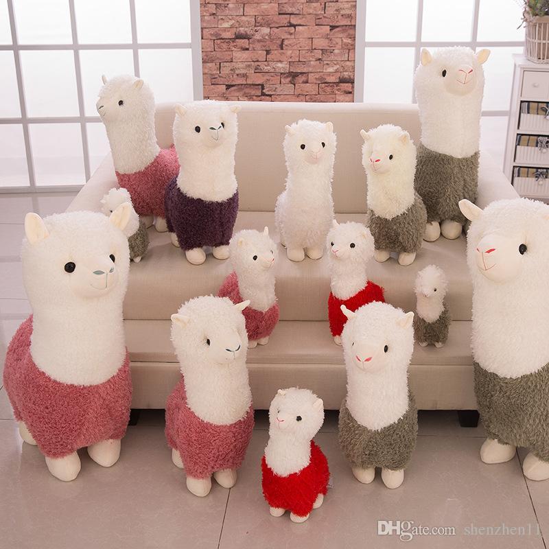 2018 Kawaii Rainbow Alpaca Plush Doll Toys Cute Llama Alpacasso Stuffed Toys Japanese Stuffed Animals Doll Children Kids Gift OTH893