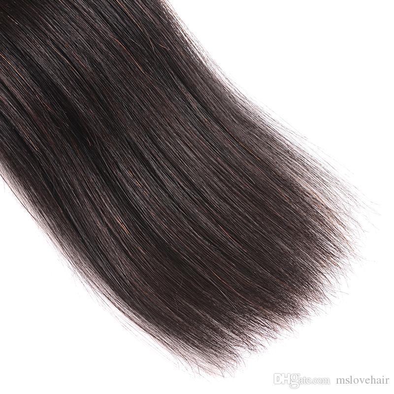 Cheap Hair 3 or 4bundles8A Mink Brazilian Peruvian Straight Human Hair Weave Wavy Natural Color Human Hair Extensions