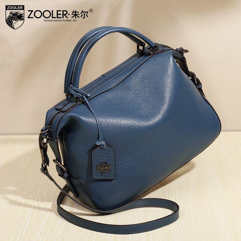 eb8c1ae6c ZOOLER RNEW Arrival 2017 Genuine Leather Handbags Double Handle Crossbody  Bags Woman Design Famous Brand Shoulder BagsBC 8116 Pink Handbags Branded  Handbags ...