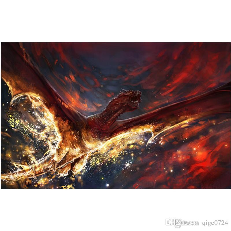 5d Diy Full Square Diamond Painting Accessories Cross Stitch Handmade Embroidery Craft Wallpaper Home Decoration Flying Dragon