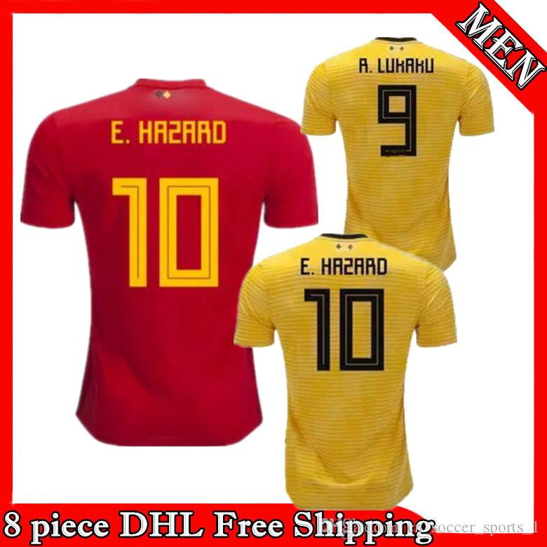 reputable site f71ad 2663d belgium 9 lukaku red soccer country jersey