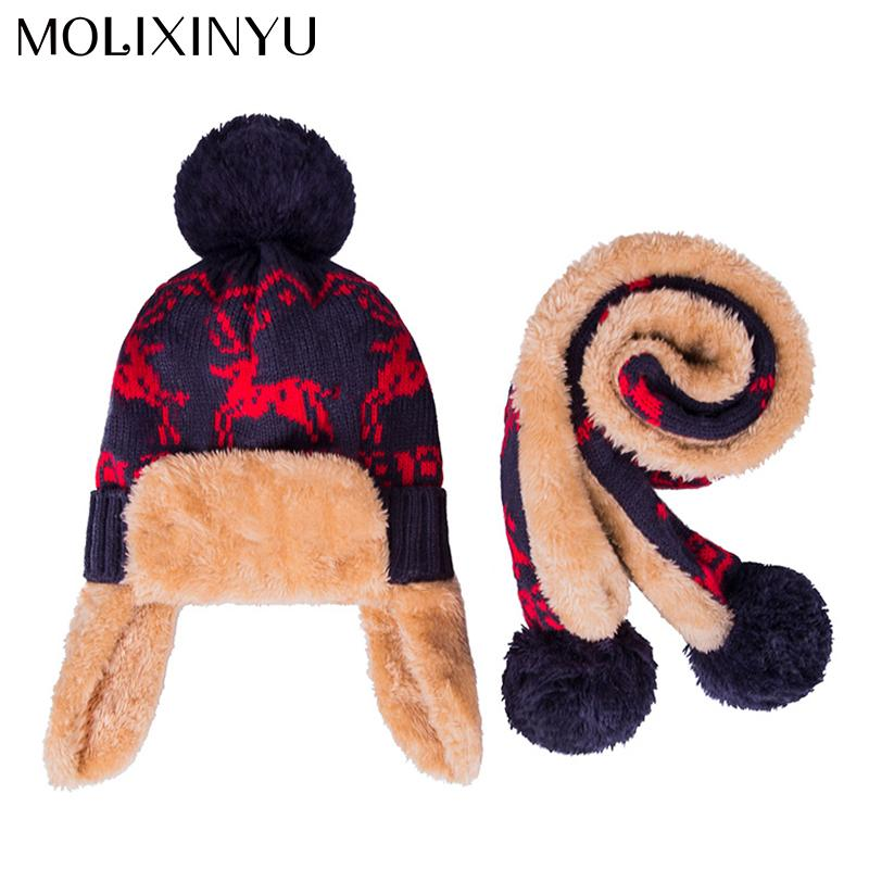 12e32e353bb 2019 Molixinyu  Baby Winter Hat  Scarf Baby Winter Cap Children Warm Scarf  For Boys Suit Beanie Hats Scarfs For Girl Boy From Yuan0907