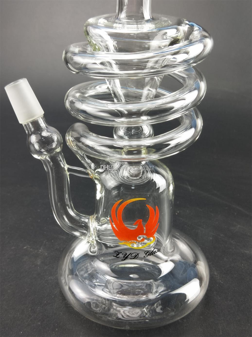 Wholesale Hookahs Accessories Height 9' Turbine Disc Perc Recycler Percolator factory direct supply