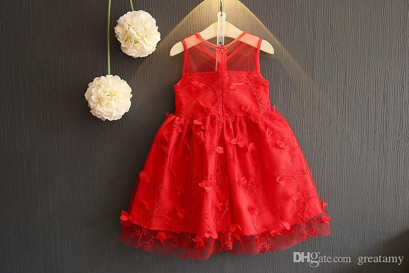 new Korean girls stereo flower dress Baby girl princess dress children boutiques summer skirts kids floral dresses