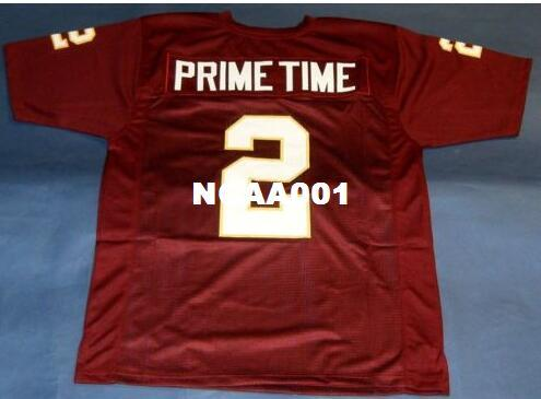 2019 Men SEMINOLES FLORIDA STATE  2 DEION SANDERS College Jersey Size S 4XL  Or Custom Any Name Or Number Jersey From Ncaa001 6f5fc4787